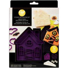 Dekoreringssett Halloween Spøkelseshus, 12 dl