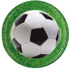 Papptallerken Procos Fotball 23 cm, 8 stk