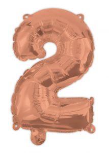 Ballong Rosegull Folie #2, 94cm