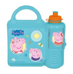 COMBOSETT Peppa Pig Matboks/Drikkeflaske