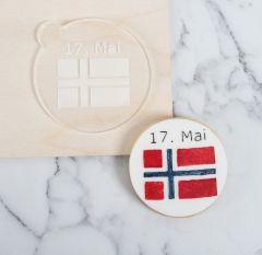 Norsk Flagg Cookie Embosser