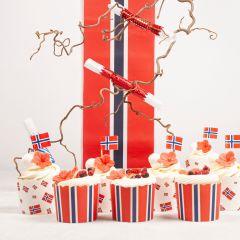 Cupcakes 17. Mai Flagg
