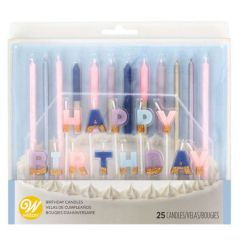 Lys Pastell HappyBirthday set 25 dl