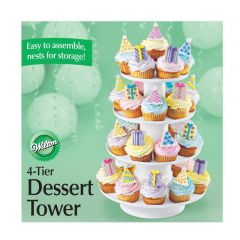 Kakestativ 4 etasjer for muffins og dessert
