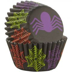 Muffinsform MINI Halloween Spider, 100 stk