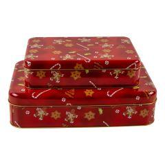 Kakebokser Juleglede Rekt, sett av 2 stk