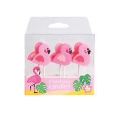 Lys Flamingo 6 stk
