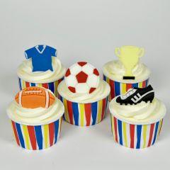 Utstikkerlinjal Fotball 3 - 5 cm