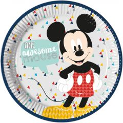 Papptallerken Mickey Mouse AW 23 cm, 8 stk