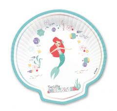 Papptallerken Ariel under the Sea Shell shaped  24