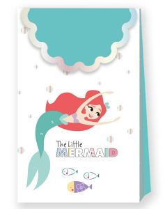 Gavepose i papir Ariel under the Sea, 6 stk