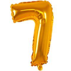 Ballong Folie Gull H 33 cm, NO 7