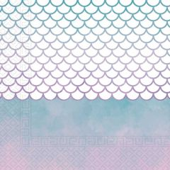 Papirservietter Mermaid Elegant 20 stk, 33x33cm