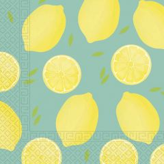 Papirservietter Lemon 20 stk, 33x33cm