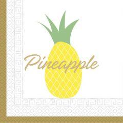Papirservietter Pineapple 20 stk, 33x33cm