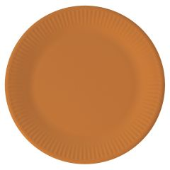 Papptallerken Orange 23 cm, 8 stk COMPOSTABLE