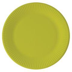 Papptallerken Lime Grønn 23 cm, 8 stk COMPOSTABLE