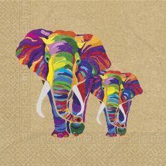 Papirservietter Elefant 20 stk, 33x33cm