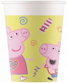 Drikkekrus i Papp, Peppa Pig 8 stk