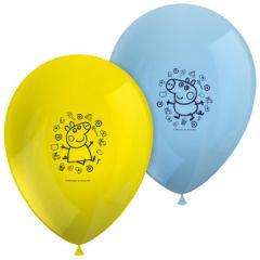 Ballonger Peppa Pig, 8 stk