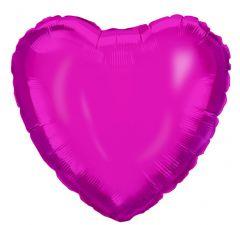 Ballong Hjerte Rosa Folie 46 cm
