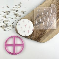 Ballet Texture Tile Cookie Cutter and Embosser
