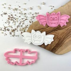Bat Halloween Cookie Cutter and Stamp