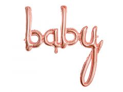 Ballong Baby RoseGold Folie 73,5x75,5cm