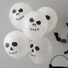 Ballonger Hodeskalle 30 cm, 5 stk