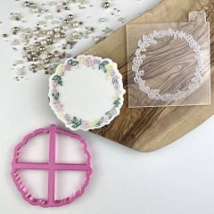 Circle of Flowers Floral Cookie Cutter and Embosser