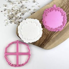Circle of Flowers Floral Cookie Cutter and Stamp