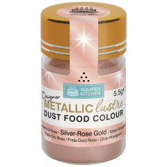 Designer Dust Silver-Rose Gold Metallic Food Colou