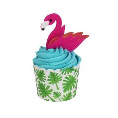 Muffinsformer Flamingo med sukkerdek, 6 sett