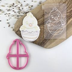 Easter Chick Large Cookie Cutter and Embosser