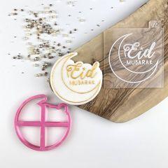 Eid Mubarak Style 1 with Moon Ramadan Cookie Cutter and Embosser
