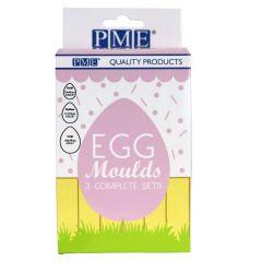 Eggemold i plast, 3 str 6 del