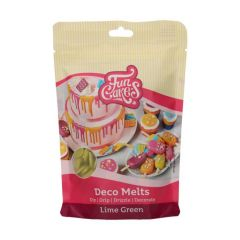 Candy Deco melts Limegrønn, 250 g Funcakes