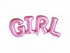 Ballong GIRL Rosa Folie 74x33 cm