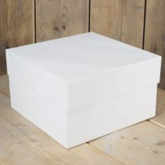 Kakeboks hvit papp, 25 x 25 x 15 cm