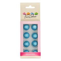 Sjokoladekuler Blå Pearl 8 stk (2 cm)