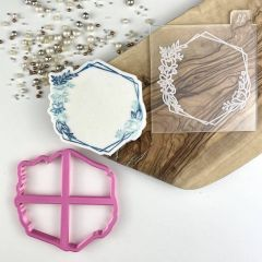 Floral Hexagon Cookie Cutter and Embosser