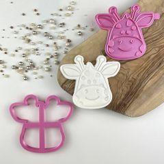 Giraffe Jungle Cookie Cutter and Stamp