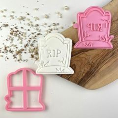 Gravestone Halloween Cookie Cutter and Stamp