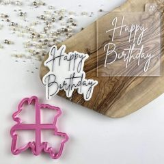 Happy Birthday Style 5 Cookie Cutter and Embosser