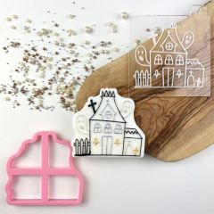 Haunted House Halloween Cookie Cutter and Embosser