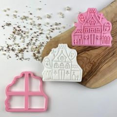 Haunted House Halloween Cookie Cutter and Stamp
