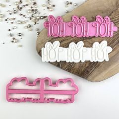Hop Hop Hop with Rabbit Ears Easter Cookie Cutter and Stamp