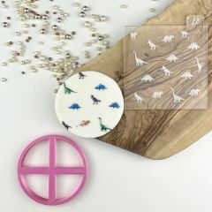 Dinosaur Texture Tile Cookie Cutter and Embosser