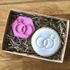 Wedding Rings Cookie Stamp