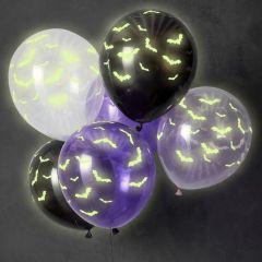 Ballonger Halloween Glow In The Dark 30 cm, 6 stk
